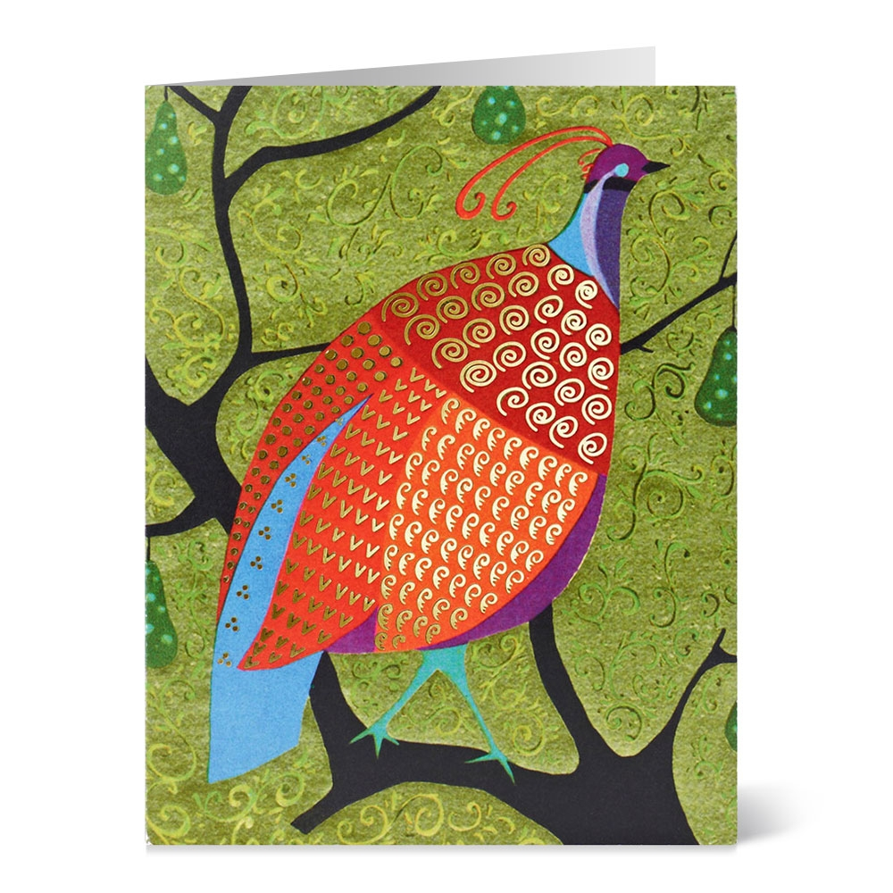 earle partridge in a pear tree holiday cards - Artistic Holiday Cards