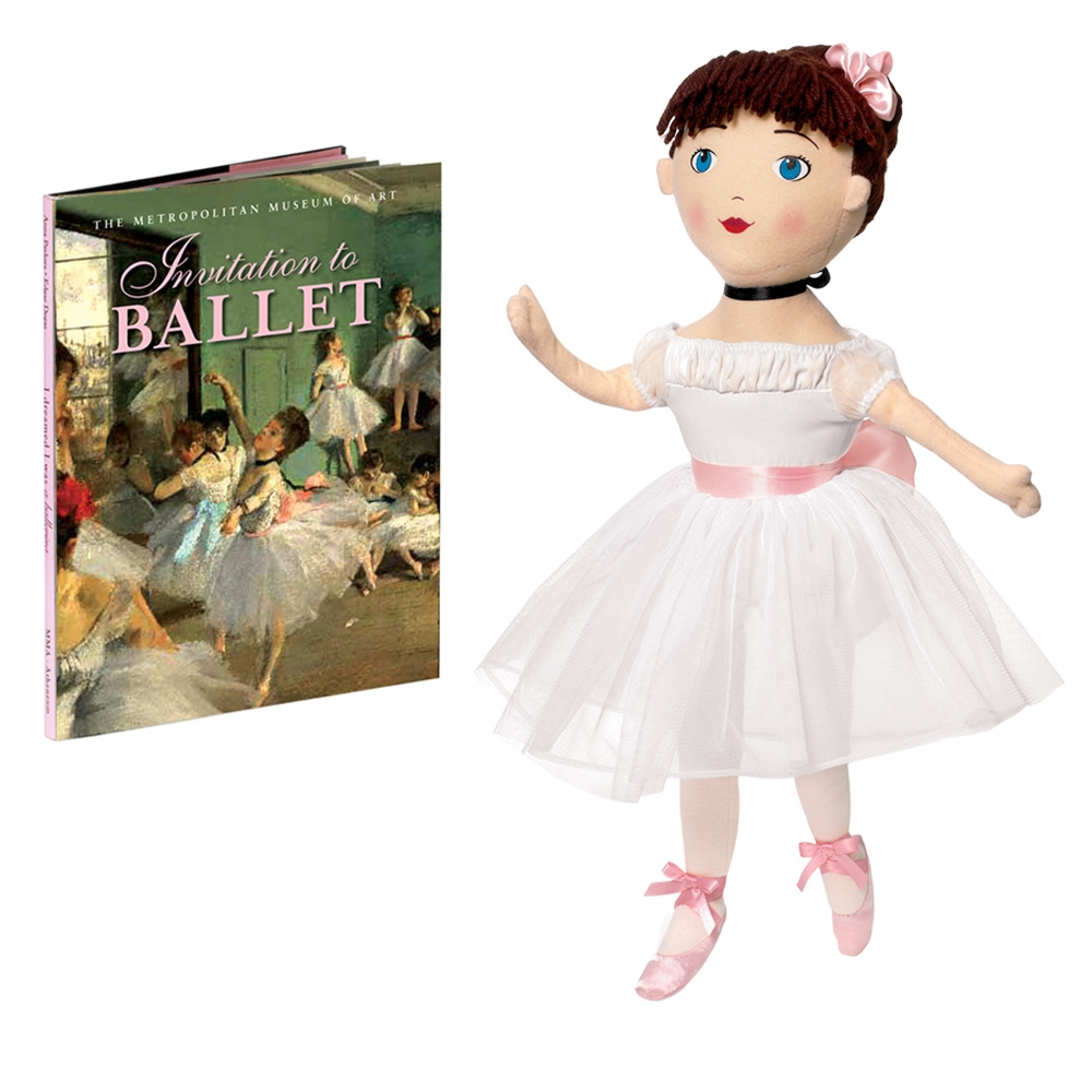 ballerina doll and invitation to ballet book the met store
