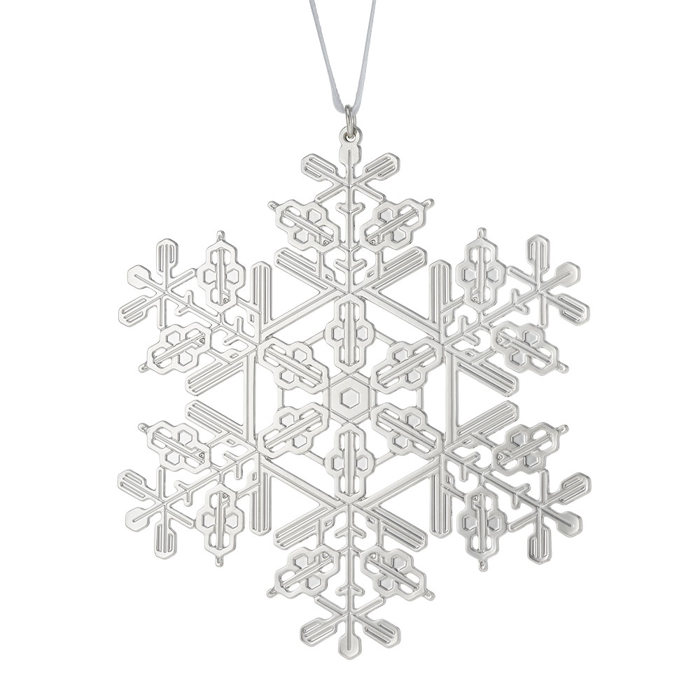 2017 Sterling Silver Snowflake Christmas Ornament - The Met Store