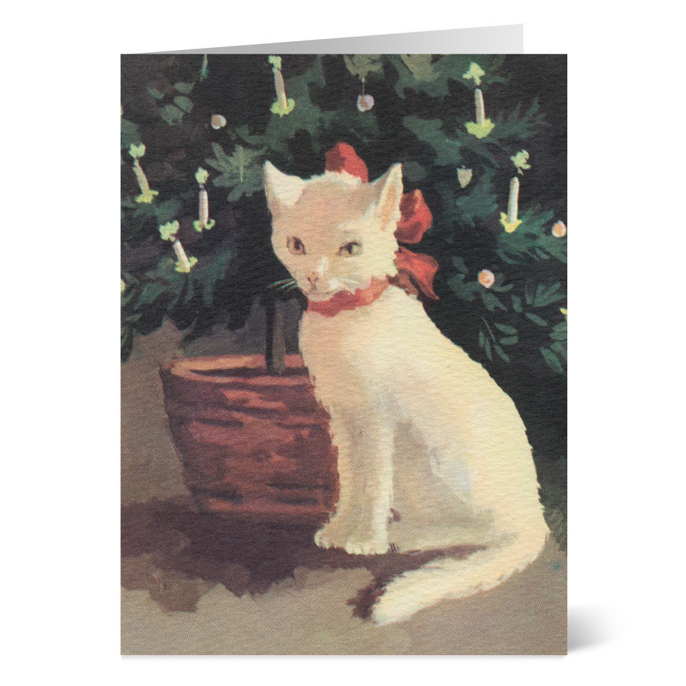 Ruellan: Cat with Christmas Bow Holiday Cards - The Met Store