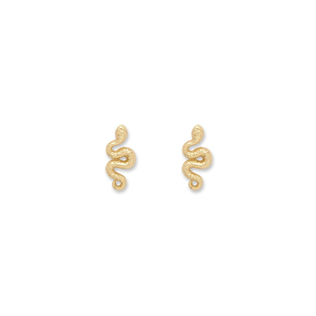 Egyptian Snake Charm Earrings
