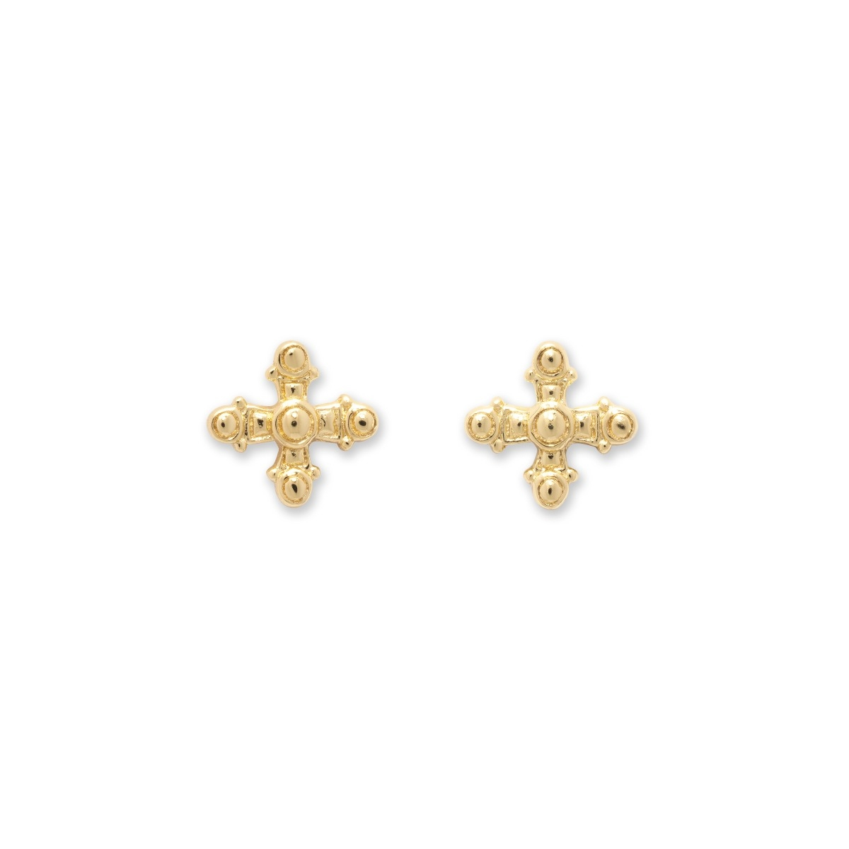 Byzantine Cross Charm Earrings