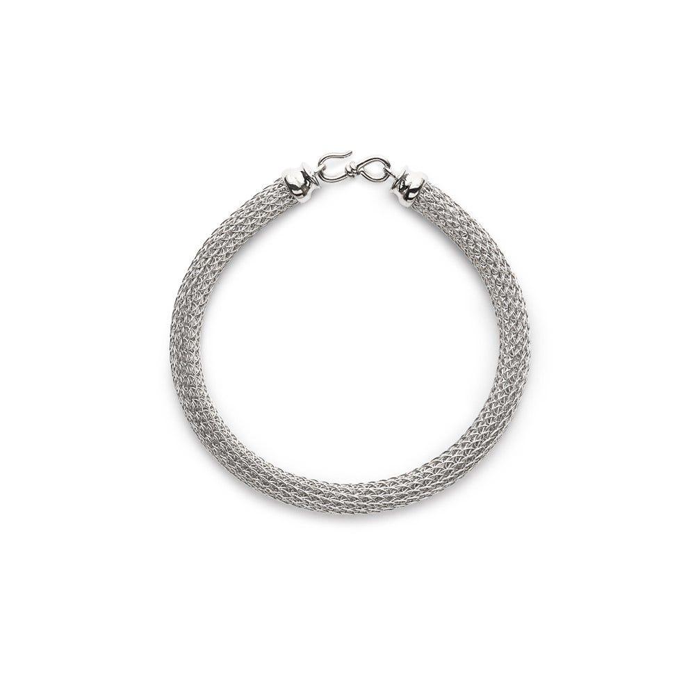 Enistic Silver Mesh Bracelet