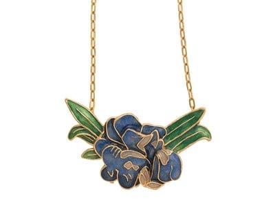 Van Gogh Irises Pendant Necklace