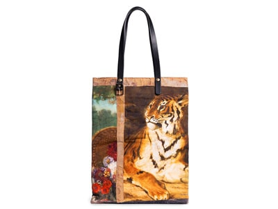 Delacroix Tiger Collage Tote