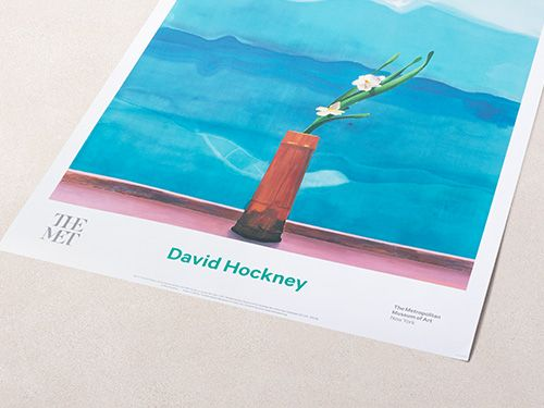 David Hockney: Mount Fuji and Flowers Poster