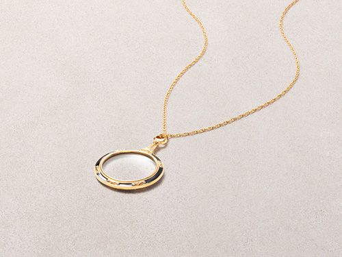 Russian Imperial Magnifier Pendant Necklace