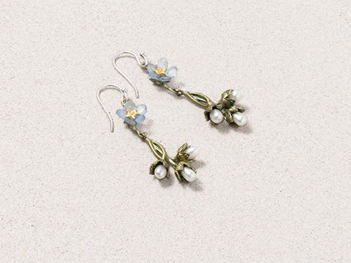Forget Me Not Drop Earrings