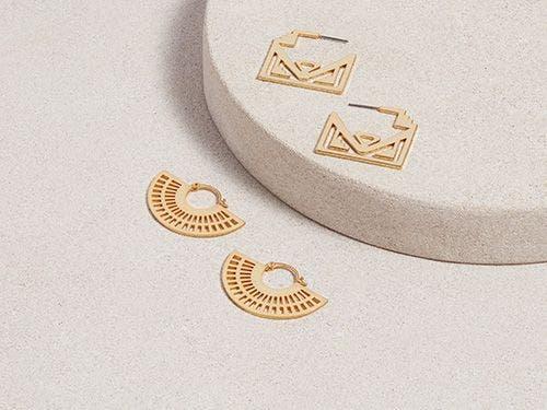 Gold Byzantine Hoop Earrings