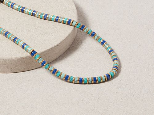 Turquoise Egyptian Bead Necklace