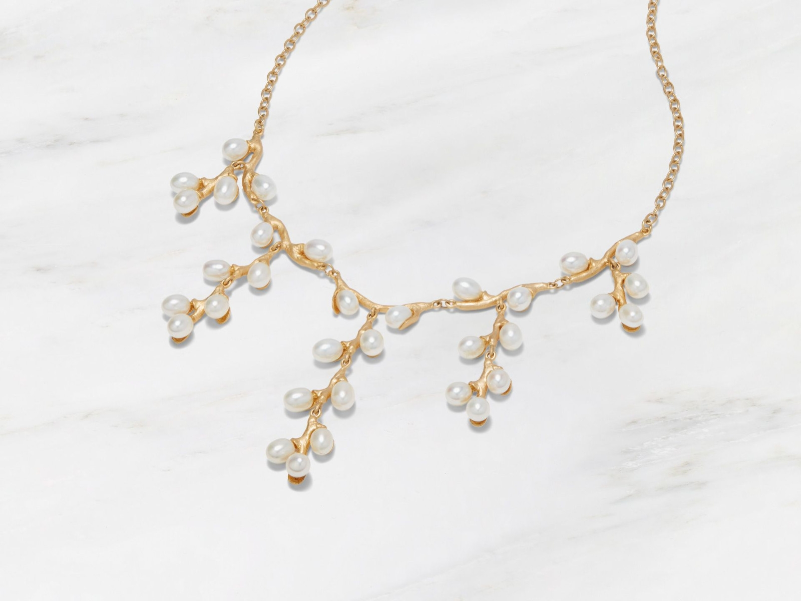 Willow Catkins Bib Necklace
