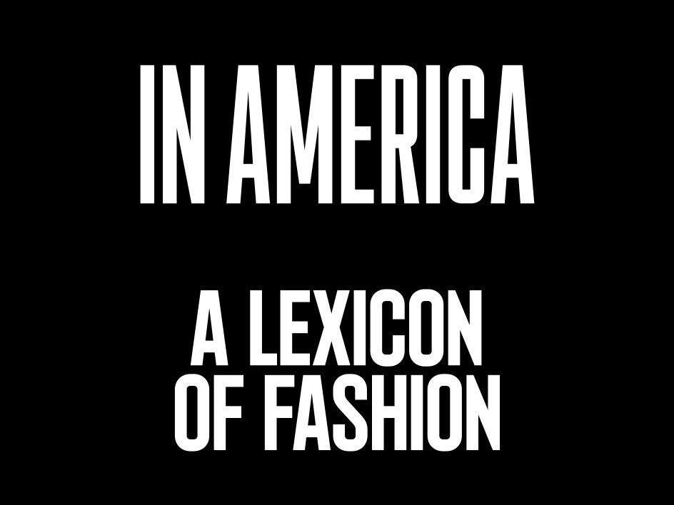Costume Institute In America Exhibition Logo